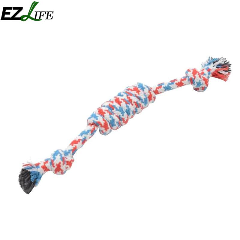 Cute Puppy Dog Pet Toy Cotton Braided Bone Rope Chew Knot New Bite-resistant Candy Shaped Rope Knot Puppy Supplies PAY7689