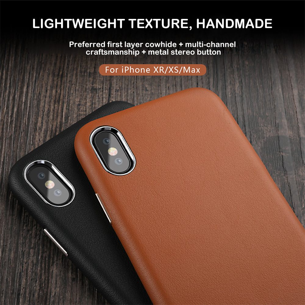 Image 5 - Luxury Phone Case for iPhone XS Max 7 X XR 8 6S Plus Cases Original Genuine Leather Hard Coque Cover Shockproof Protection Shell-in Half-wrapped Cases from Cellphones & Telecommunications