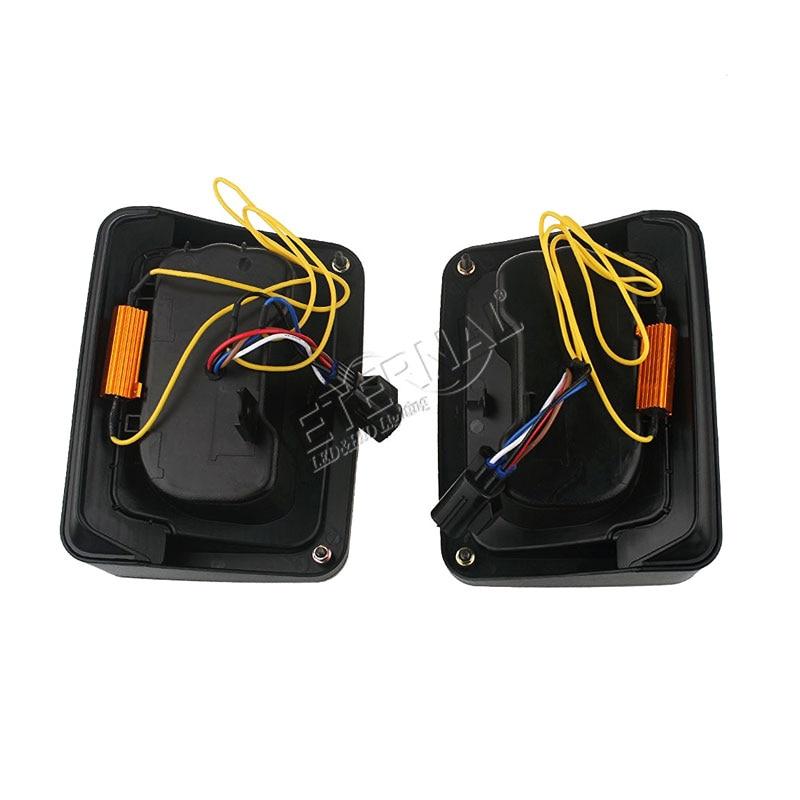 free ship pair offroad led tail light for Wrangler TJ JK 07 15 rear reverse brake lamp running reverse brake multi function lamp in Car Light Assembly from Automobiles Motorcycles