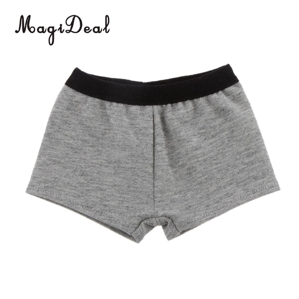 MagiDeal Top Quality <font><b>1/3</b></font> Grey Cotton Blend Boxers Underwear Panties for 24 Inch <font><b>BJD</b></font> <font><b>SD</b></font> Dollfie Dolls <font><b>Clothes</b></font> Costome Accessory image
