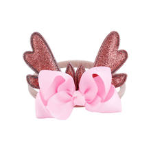 Headband Cute Christmas Infant Baby Deer Antlers Headband Hair band Dance Ballet 6 Colors(China)