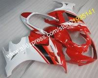 Лидер продаж, наборы для тела Suzuki GSX650F 2008 2009 2010 2011 2012 2013 GSX 650F блеск для губ красный, белый Подержанный мотоциклетный обтекатель