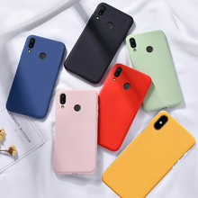 Solid Color Original Official Case For Xiaomi mi 8 lite 9 a2 Redmi note 7 5 6 6a Simple phone case