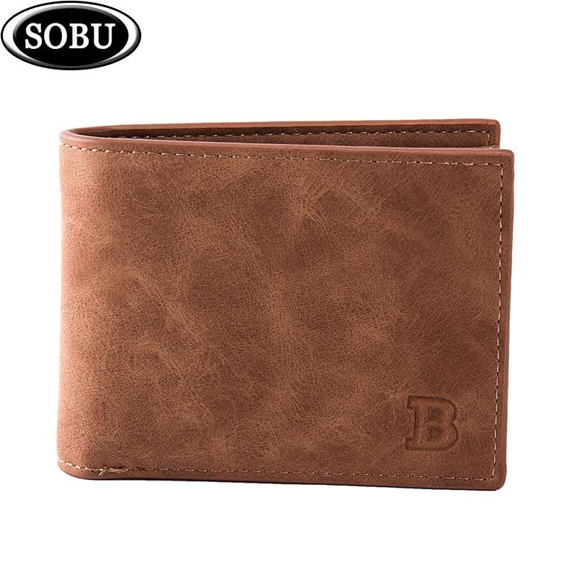 2019 New Fashion PU Leather Men's Wallet With Coin Bag Zipper Small Money Purses Dollar Slim Purse New Design Money Wallet T004