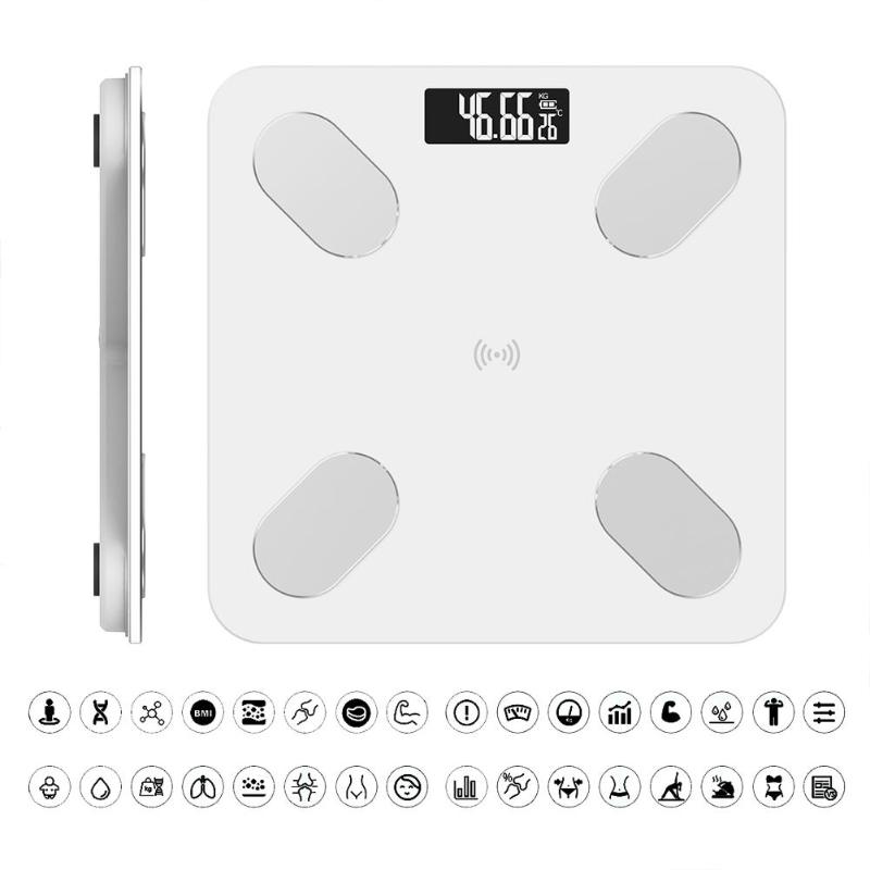 0 1 180kg Smart Bathroom Scales Accurate Electronic Digital Weight Scale Fat Muscle Visceral Fat Weighing Scale Bluetooth APP in Bathroom Scales from Home Garden