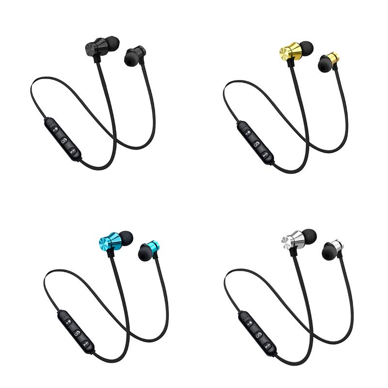 Bluetooth 4.2 Earphone Magnetic attraction Headset waterproof sports Build-in Mic with Charging Cable Earphone for iPhone image