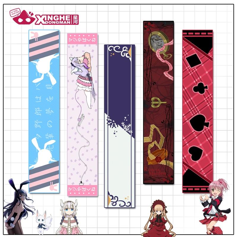 Milky Way Anime Dragon Maid Scarf Shugo Chara Rozen Maidem 100 Sleeping Princes Bunny Girl Senpai Scarf Unisex Velvet Scarf Gift