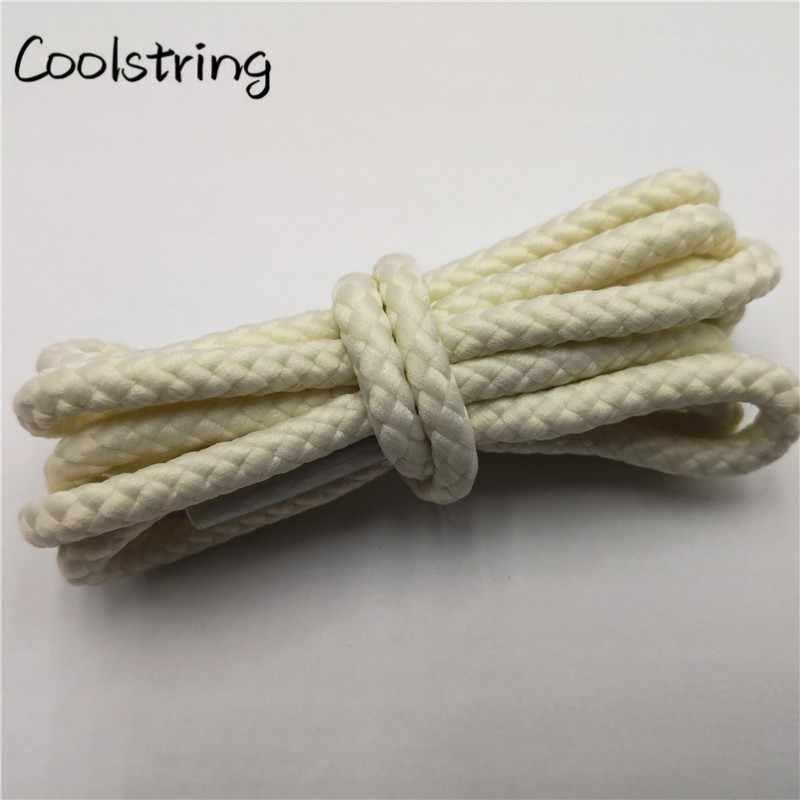 Coolstring 1 Par Cor Sólida Rodada Cadarços Shoestring Cadarços Tênis Para Sapatas de Lona Unisex Casuais Martin Botas Atacadores