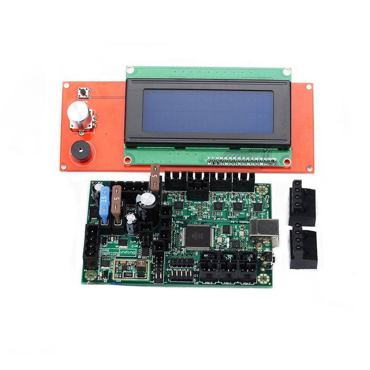 1PC Durable Mini-Rambo 1.3 Control PCB Board and LCD Screen Kit 3D Printing Part