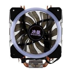 SNOWMAN LED CPU chłodzący główny 5 bezpośredni kontakt Heatpipes freeze Tower układ chłodzenia wentylator chłodzący CPU z wentylatorami PWM Wentylatory i chłodzenie Komputer i biuro -