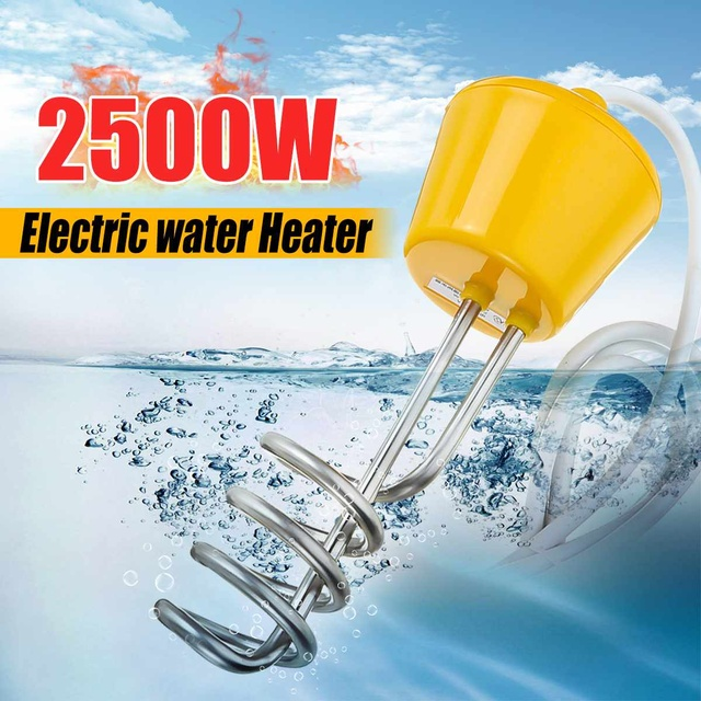 2500w Immersion Water Heater Electric Heating Element Mini Water