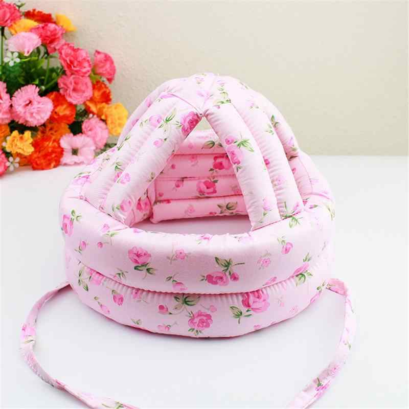 Adjustable Cartoon Baby Toddler Protective Hat Kids Safety Helmet Soft Headguard Cap To Prevent Bumps Infant Head Safety Cap