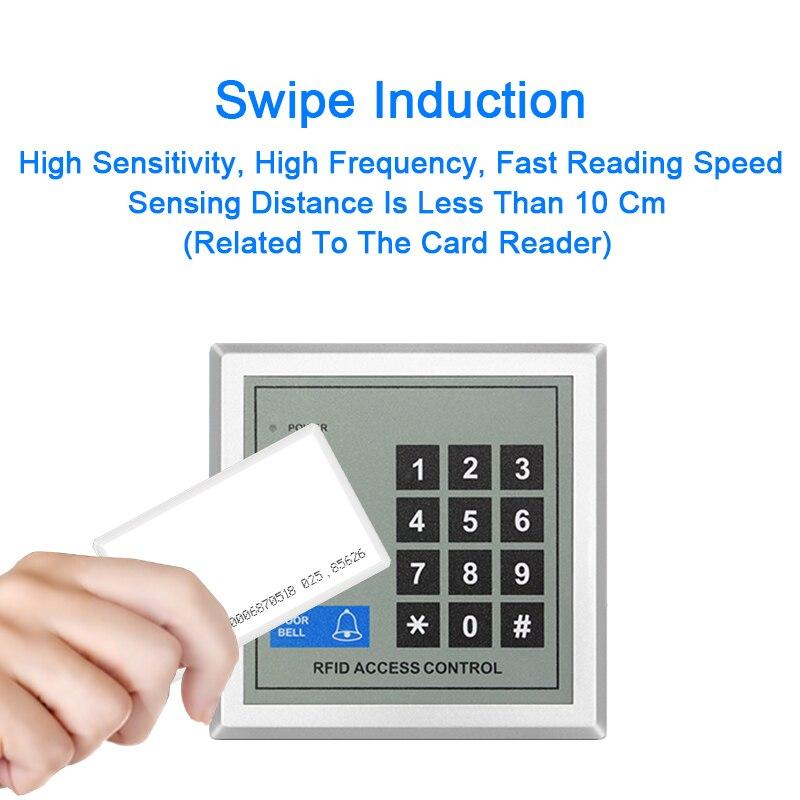 Купить с кэшбэком 5pcs RFID Card EM4100 Tk4100 125khz 1.8mm Access Control Card Keyfob Tags Sticker Key Fob Token Ring Key Proximity Smart Card