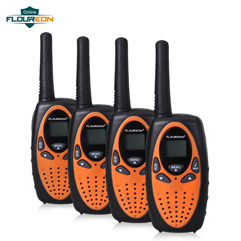 FLOUREON 8 Channel 4pcs Twin Walkie Talkies UHF400-470MHZ 2-Way Radio 3KM Range InterphoneFLOUREON 8 Channel 4pcs Twin Walkie Talkies UHF400-470MHZ 2-Way Radio 3KM Range Interphone