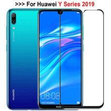 Vidro protetor para huawei y9 y7 y6 2019, protetor de tela de vidro temperado em huawey huawai 9 7 6 full capa trempe verre