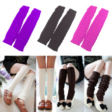 Feitong High Quality Women Winter Warm Leg Warmers Knitted Crochet Long Socks Knee Socks2019 Hot Sale Fashion Gift