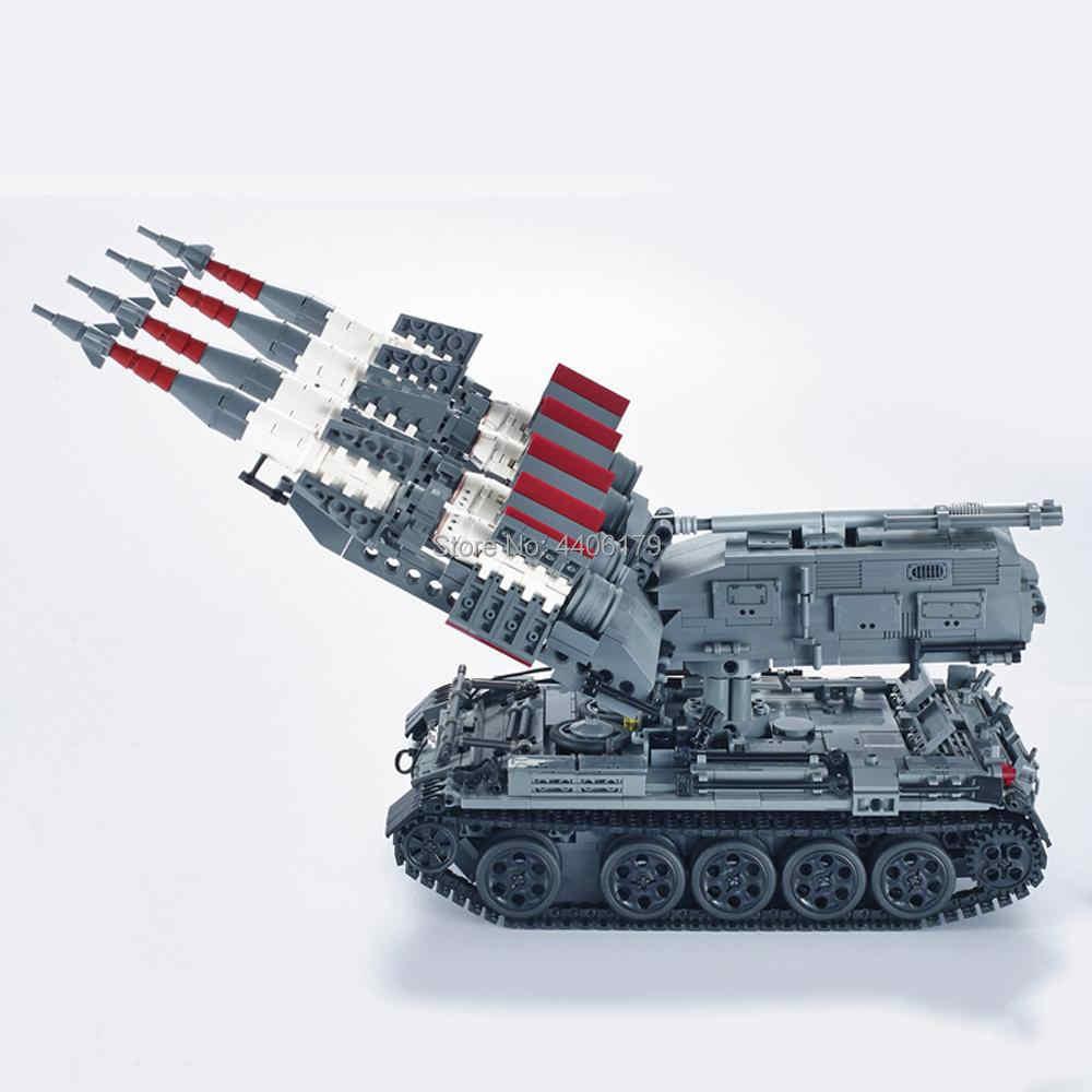 Hot LegoINGlys militaire ww2 armée soviétique SA-3 missile T-55 tank guerre MOC blocs de construction modèle mini arme chiffres brique jouets cadeau