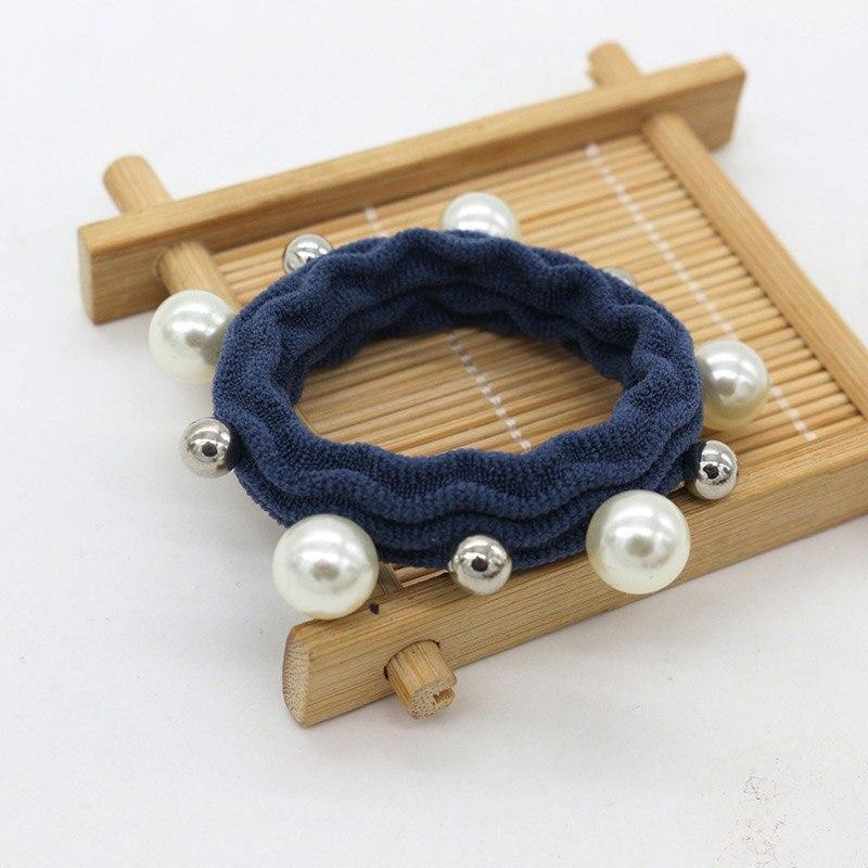Hot Sale Hair Rope 1PC Korean Girls Hair Accessories Elastic Hair Band High Quality Imitation Pearl Popular Women
