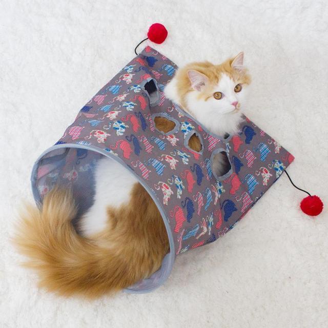 Barraca Gato de estimação Túnel Pista Divertido Brinquedo Gato Gato Brinquedo Três-camada de Papel de Dobramento Ao Ar Livre Fácil de Limpar Rolo dragão Cama À Prova D' Água