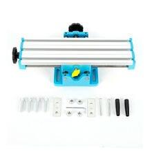 Мини-фрезерный станок приспособление стенд сверления Слайд Рабочий стол крестовый стол дрель для скамьи дрель стенд