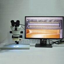 2019 Новый C крепление 0.4X адаптер Тринокулярный Стерео широкоформатный микроскоп 3,5-90X непрерывное Масштабирование + 21MP 2 K 1080 P 60fps камера микроскопа HDMI