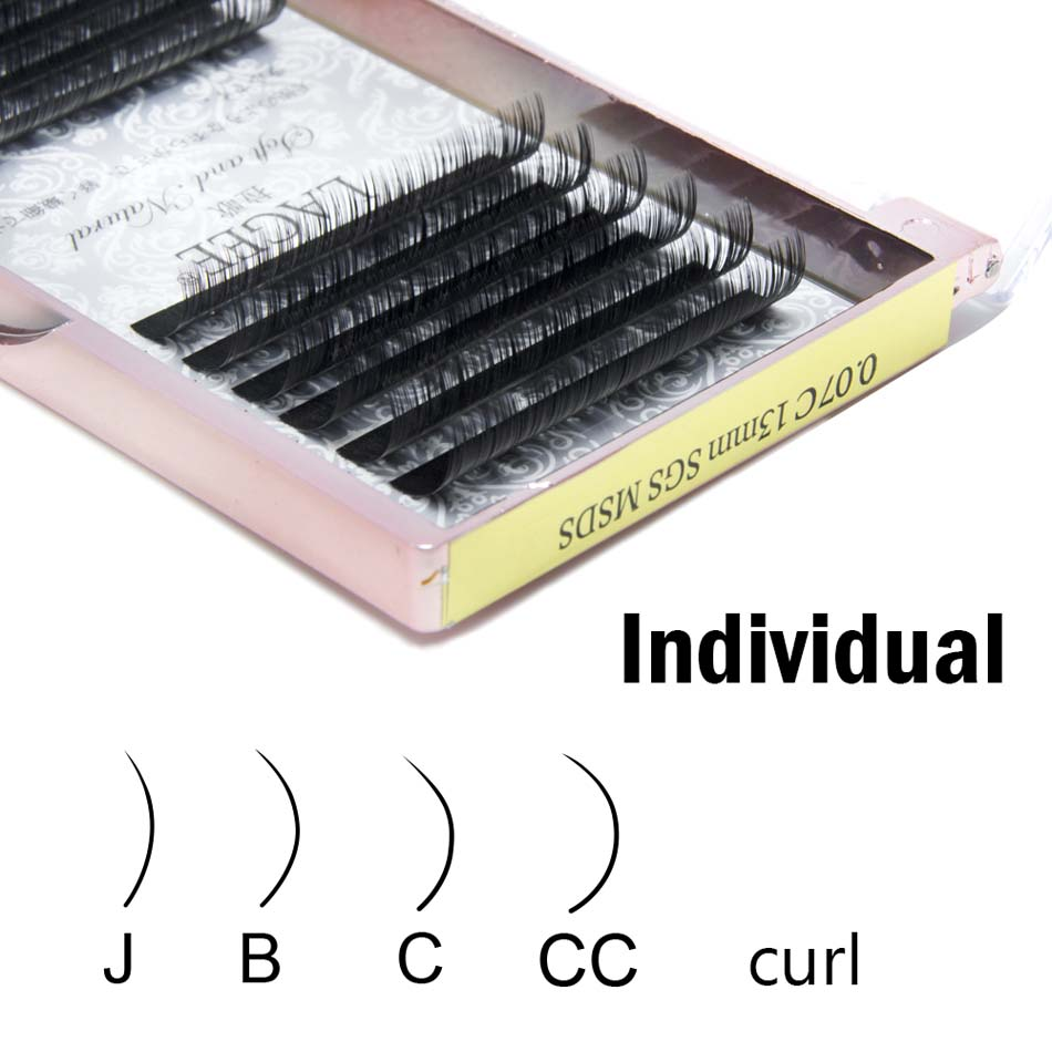 Image 5 - LAGEE J B C CC Curl custom Faux mink individual eyelash extension dlux natural soft cilia lashes extension for professionals-in False Eyelashes from Beauty & Health