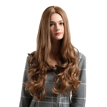 Cosplay Wig  Synthetic Long Curly Middle Part Line Blonde Women Hair C