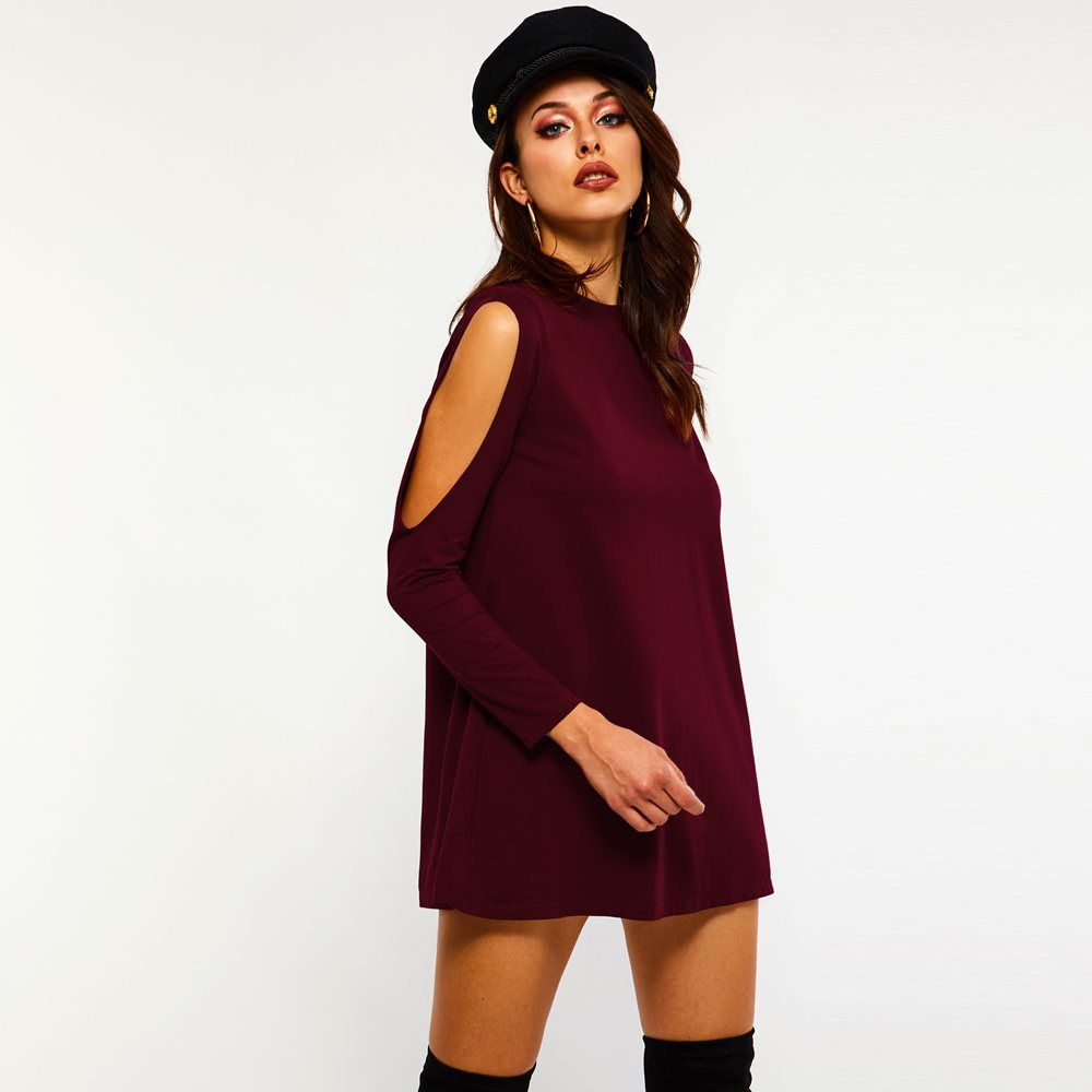 Aliexpress.com : Buy Sexy Mini Knitted Dress Women Hollow ...