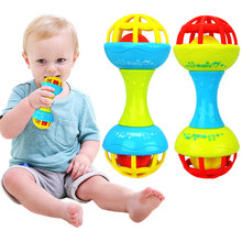Develop Baby Intelligence Plastic Rattles Hand Bell Funny Educational Toys Xmas Birthday Gifts YJS Dropship