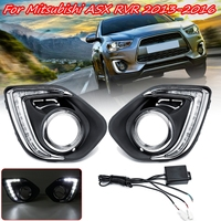 1 Pair LED DRL Daytime Daylight Running Lights 12v warning lamp car Styling lights for Mitsubishi ASX Outlander Sport 2013 2015