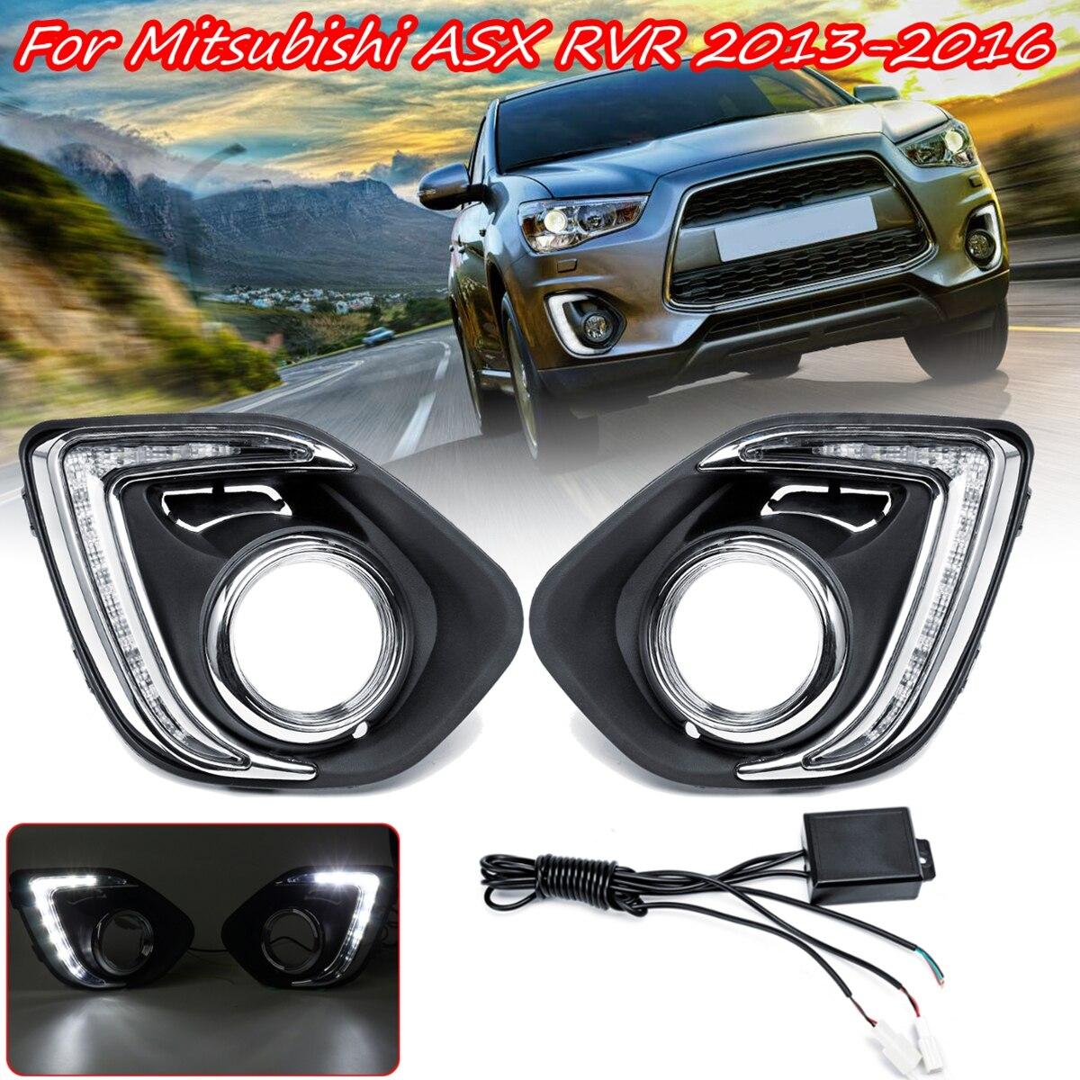 1 paire LED DRL feux de jour feux de jour 12 v lampe d'avertissement feux de voiture pour Mitsubishi ASX Outlander Sport 2013-2015