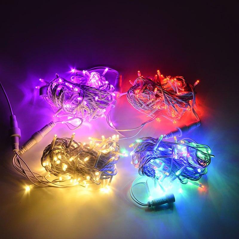 32,8 'Μήκος 100 LEDs λευκό PVC LED χορδή - Φωτισμός διακοπών - Φωτογραφία 2