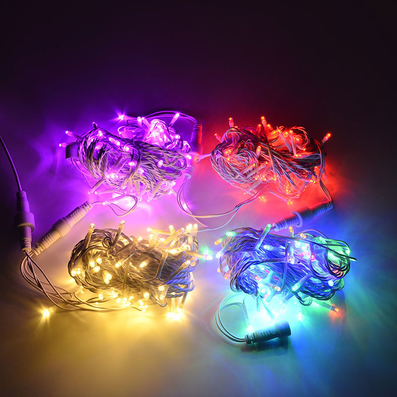 Toprex 32.8' Length 100 LED String Lights Waterproof Christmas Decoration Light Chain Wedding Decor Party Light LED String 220V