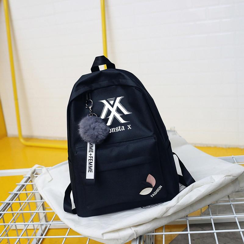 Wanna One Bts Twice Exo Got7 Backpacks Monsta X Backpack Sac A Dos Kpop K-pop K Pop School Bag Backpack For Teenager Girl Women #6