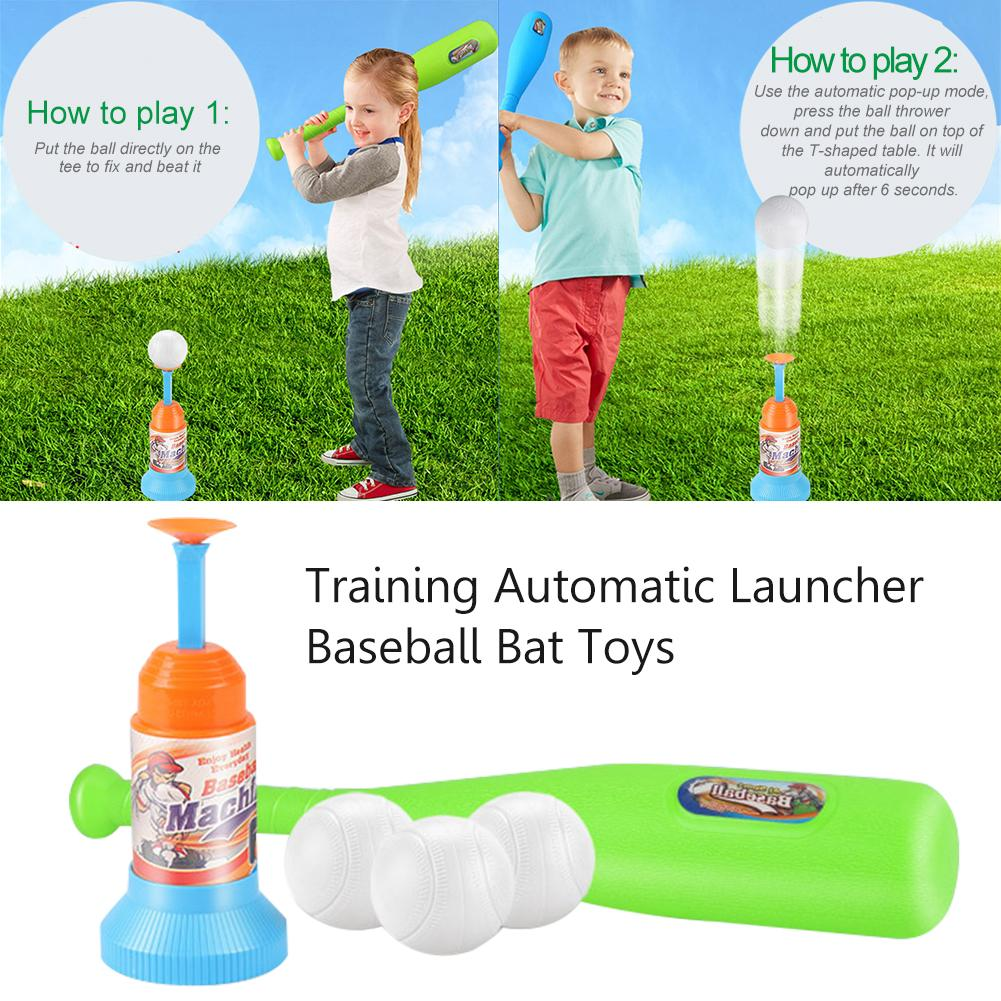 Entertainment Products Baseball Set Training Automatic Launcher Toy Indoor Outdoor Sports Baseball Game Ball Gift For Children