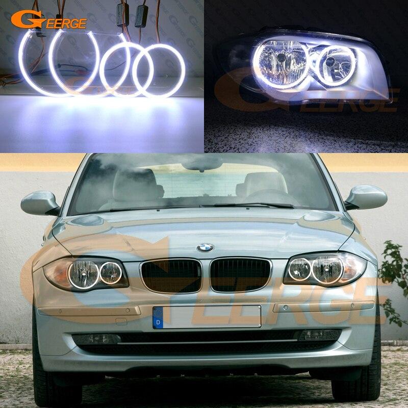 For BMW 1 Series E81 E82 E87 E88 Halogen Headlight Excellent angel eyes Ultra bright illumination COB led angel eyes kitFor BMW 1 Series E81 E82 E87 E88 Halogen Headlight Excellent angel eyes Ultra bright illumination COB led angel eyes kit