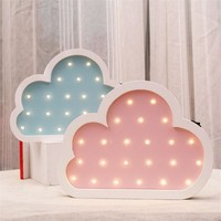 Ins Wooden Flaky Clouds Night Light Nordic Cartoon LED Wall Lamp Environmental Children Room Decoration Lovely New Year Gift Hot