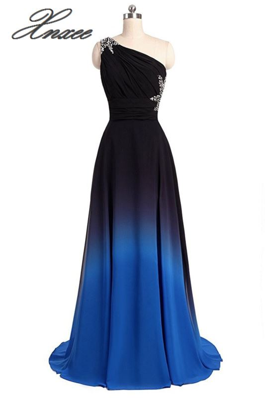 Xnxee Stylish slim สี gradient ชุด-ใน ชุดเดรส จาก เสื้อผ้าสตรี บน   3