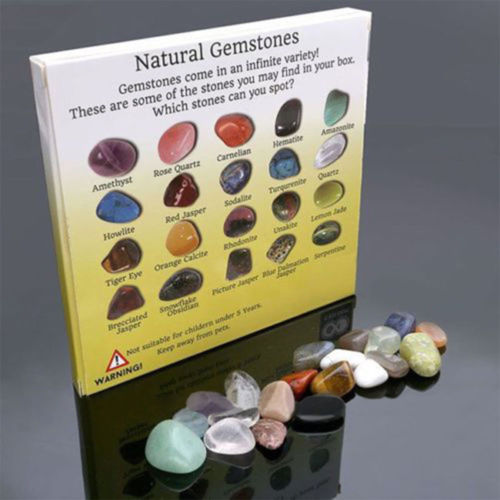 Fashion 20pcs Natural Crystal Gemstone Polished Healing Chakra Stone Display(China)