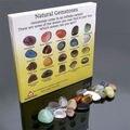Мода 20 штук натуральных кристаллов полированный Исцеление чакра камень Дисплей коллекция Дисплей Лидер продаж