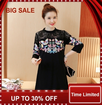 Maternity dress summer fashion models  long-sleeved shirt in the long section of pregnant women spring