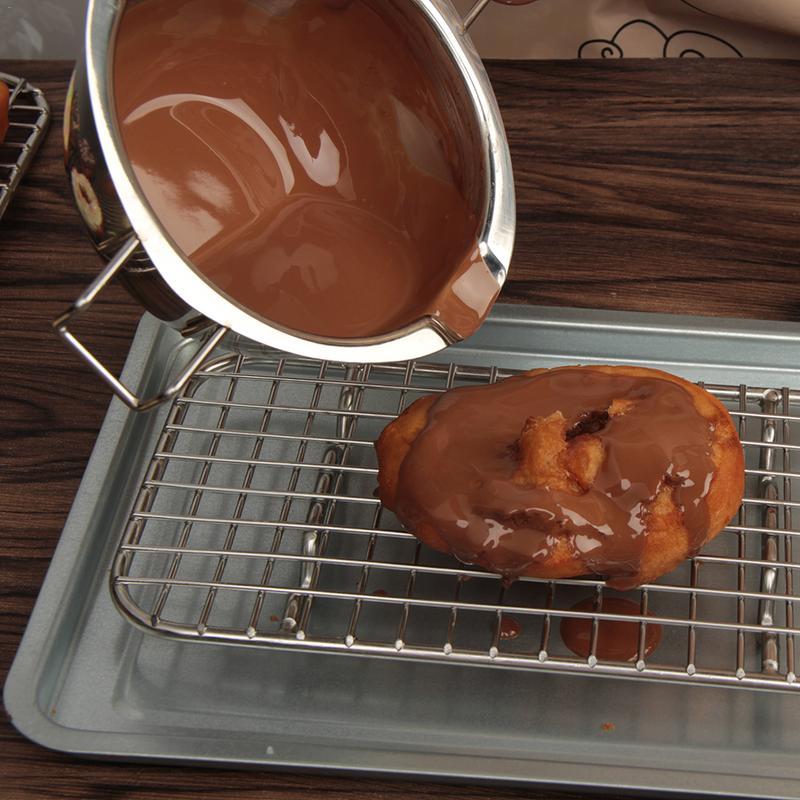 400/600 мл нагревание плавление из нержавеющей стали тусклые воды без пожарного расплава горшок зеркальная полированная шоколадная расплава кухонная посуда