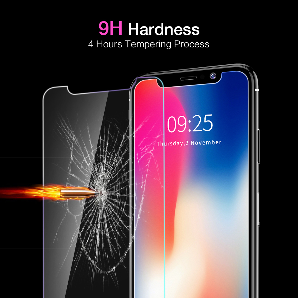 ETIMGA 9H Tempered Glass For iPhone X Screen Protector For