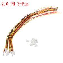 10pcs Mini Micro 2.0 PH 3-Pin JST Connector Plug With Wires