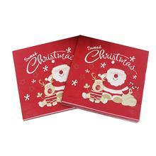 20 шт печатные салфетки с темой Рождества одноразовые Санта Клаус Рождественский лось бумажное полотенце ткани для взрослых детей Рождественская вечеринка