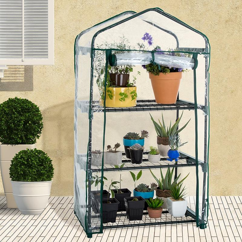 PVC Warm Garden Solar Tier Mini Household Garden Tools Plant Greenhouse Cover (without Iron Stand)