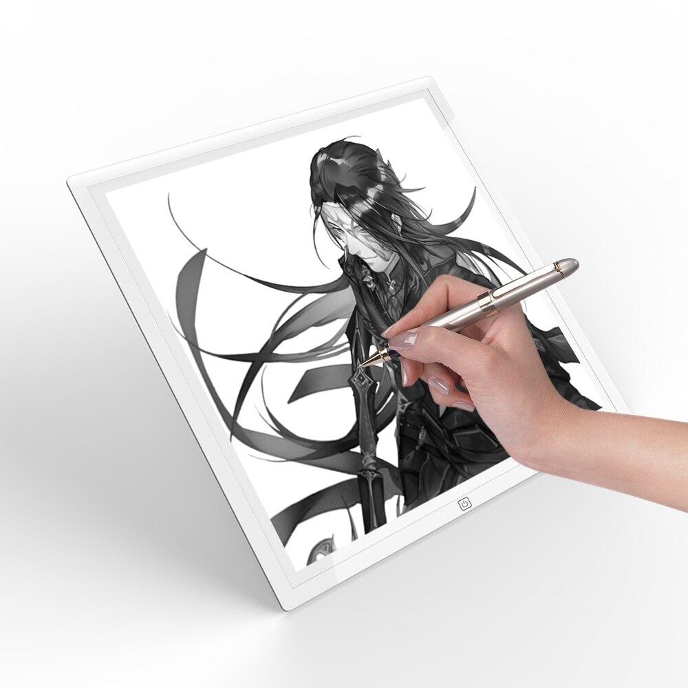 Tablette de dessin Portable Ultra-mince tablette d'esquisse Pad de dessin gradation Stepless Artcraft traçage boîte à lumière LED pour les artistes étudiant