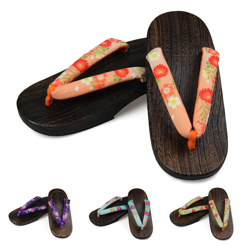 Absorb Sweat Summer Japanese Shoes Geta Clogs Naruto Anime Cosplay Costumes Shoes Woman Traditional Flip Flops Slippers