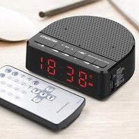 Multi Function Wireless Bluetooth Speaker Music Player LED Alarm Clock Digital Display FM Radio WXV Sale