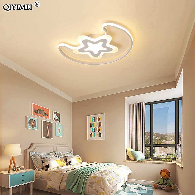 New Arrival Moon Star Led Chandeliers Lighting Child Room Bedroom acrylic lamps With Remote Control Kitchen Fixture LightsNew Arrival Moon Star Led Chandeliers Lighting Child Room Bedroom acrylic lamps With Remote Control Kitchen Fixture Lights